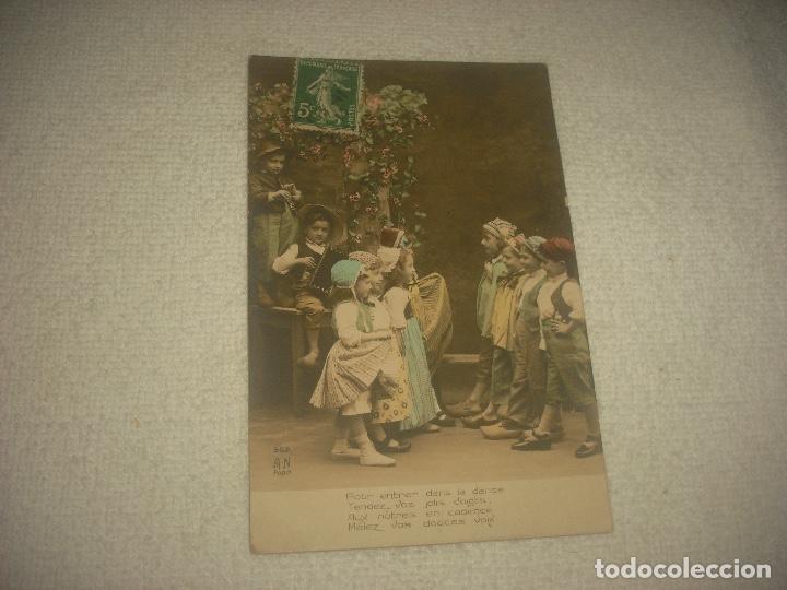 PRECIOSA POSTAL DE NIÑOS DANZANDO . A.N PARIS . CIRCULADA 1912 (Postales - Postales Temáticas - Niños)
