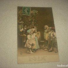 Postales: PRECIOSA POSTAL DE NIÑOS DANZANDO . A.N PARIS . CIRCULADA 1912. Lote 79279777