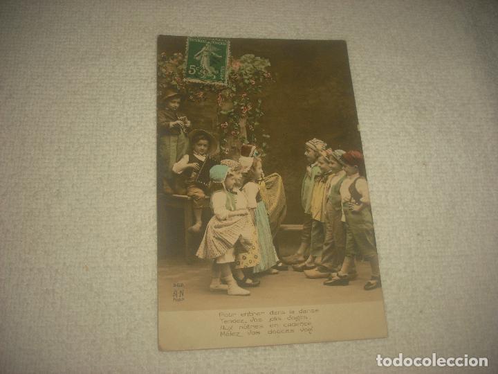 Postales: PRECIOSA POSTAL DE NIÑOS DANZANDO . A.N PARIS . CIRCULADA 1912 - Foto 2 - 79279777