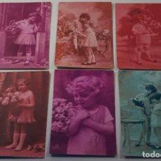 Postales: LOTE DE 6 POSTALES FOTOGRAFICAS NIÑAS ( AÑOS 20 - 30 ). Lote 81945172