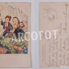 Postales: POSTAL ANTIGUA - LAIETANA -CORRANDES CATALANES - EDITORIAL ARTIGAS - BARCELONA - DIBUJO COLOREADO. Lote 82187520