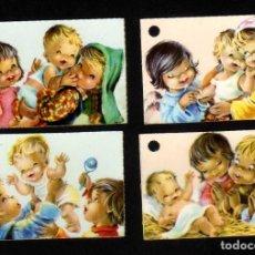 Postales: LOTE DE 4 FRONTALES DE RECORDATORIOS BAUTIZO - CONSTANZA. Lote 95806687