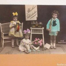 Postales: POSTAL NIÑOS CON JUGUETES, AÑO 1910. Lote 85433124