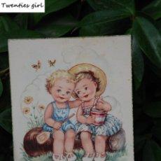 Postales: ANTIGUA POSTAL ILUSTRADA CON NIÑOS. Lote 61454107