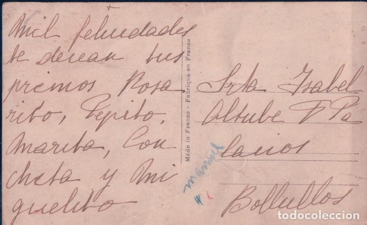 Postales: POSTAL NIÑOS EN ESCALERA - ESCRITA A BOLLULLOS PAR DEL CONDADO - HUELVA - Foto 2 - 92296270