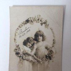 Postales: POSTAL ANTIGUA, NIÑAS 1909 (BARCELONA) . Lote 93310305