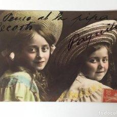 Postales: ANTIGUA POSTAL, DE DOS NIÑAS 1904 (ROSAS/GIRONA). Lote 93872135