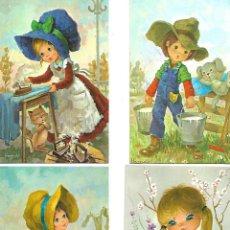 Postales: CUATRO POSTALES ANTIGUAS DE NIÑOS . Lote 95892195