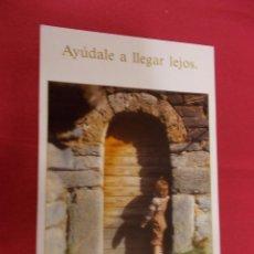 Postales: BONITA POSTAL. AYÚDARLE A LLEGAR LEJOS. Nº 78. ESCUDO DE ORO. . Lote 95909847