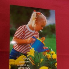 Postales: BONITA POSTAL. NIÑA REGANDO LAS PLANTAS. 600 B. Lote 95910791