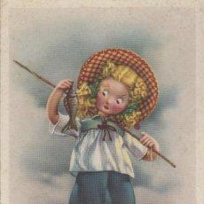 Postales: POSTAL INFANTIL NIÑA PESCANDO - NIÑA PESCADORA. Lote 97622839