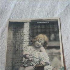Postales: POSTAL NIÑO CENDRILLONNETTE AÑO 1905 CIRCULADA . Lote 98647419