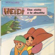 Postales: POSTAL CON CUENTO NOVACARD HEIDI - UNA VISITA A LA ABUELITA - EDITORIAL MULHACEN 1975. Lote 98669103