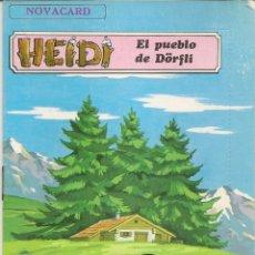 Postales: POSTAL CON CUENTO NOVACARD HEIDI - EL PUEBLO DE DORFLI - EDITORIAL MULHACEN 1975. Lote 98669267