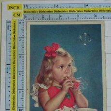 Cartes Postales: POSTAL DE NIÑOS NIÑAS. AÑOS 10 30. NIÑA POMPAS DE JABÓN. 1110. Lote 99765319