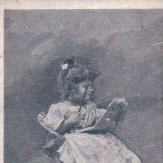 Postales: POSTAL NIÑA LEYENDO - COMME GRAND MAMAN - . Lote 99830955