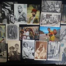 Postales: GRAN LOTE DE 18 POSTALES ÉTNICAS ANTIGUAS DE NIÑOS MAGREB , VER FOTOS. Lote 99913291