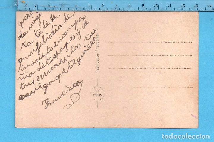 Postales: Postal de Niña Con Unas Palomas Editada en Francia Escrita - Foto 2 - 99976311