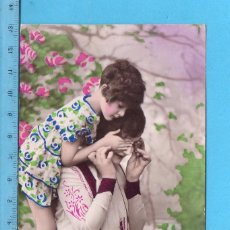 Postales: POSTAL DE NIÑA CON MAMA EDITADA EN FRANCIA ESCRITA EL AÑO 1930. Lote 99976943