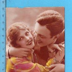 Postales: POSTAL DE PAREJA DE ENAMORADOS EDITADA EN FRANCIA ESCRITA EL AÑO 1925. Lote 99977463