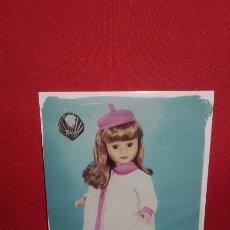 Postales: POSTAL DE MUÑECA FRANCESA BELLA DE 14 X 10,5 CM. Lote 100483695