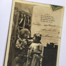 Postales: RM400 TARJETA POSTAL FOTOGRAFICA ORIGINAL CIRCULADA P.P.S.XX AÑO 1903 NIÑOS NIÑOS. Lote 101387691