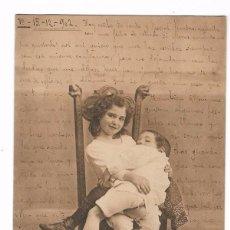 Postales: POSTAL COLECCIÓN CÁNOVAS - SERIE B B 7 - INSTINTO MATERNAL - HAUSER MENET SIN DIVIDIR CIRC. 1902. Lote 102017747