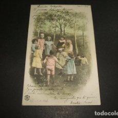 Postales: NIÑOS JUGANDO A LA GALLINITA CIEGA POSTAL 1904. Lote 102831583