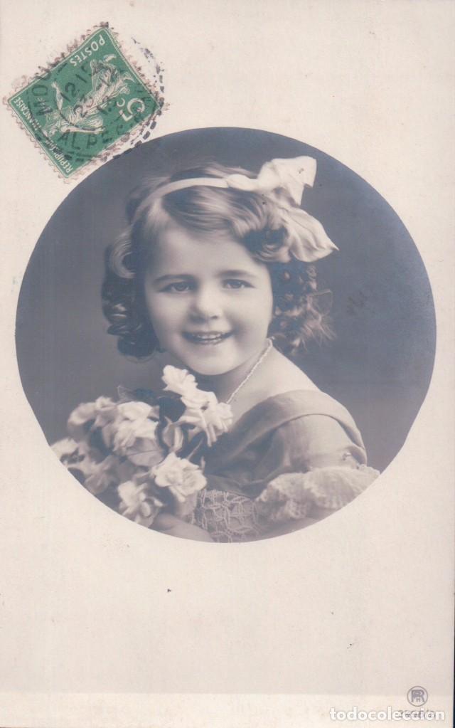 POSTAL NIÑA CIRCULADA 1913 (Postales - Postales Temáticas - Niños)