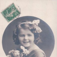 Postales: POSTAL NIÑA CIRCULADA 1913 . Lote 103614147