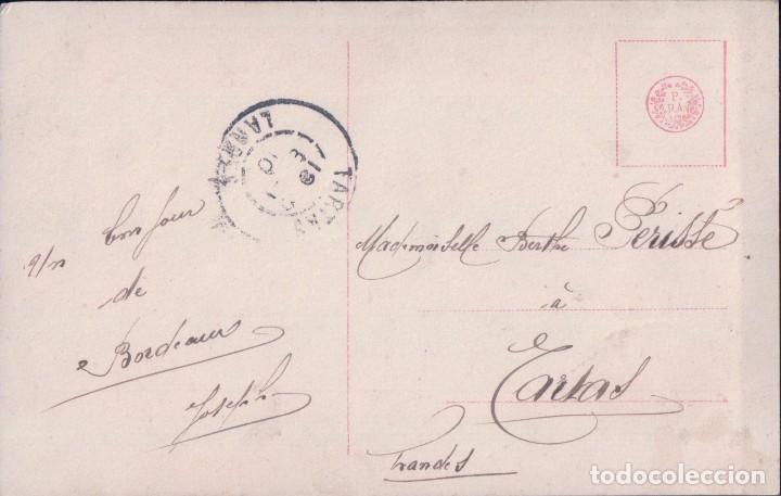 Postales: POSTAL NIÑA EN UN ESPEJO - CIRCULADA 1910 - Foto 2 - 103616059