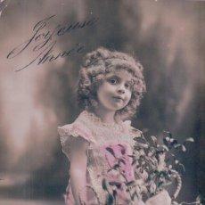 Postales: POSTAL NIÑA CON FLORES - CIRCULADA 1912. Lote 103616451