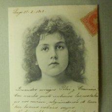 Postales: POSTAL - NIÑOS - CARA DE NIÑA - J:N.B. - JNB 118 - EDICION ESPAÑOLA - ESCRITA EN 1902 -. Lote 104410579