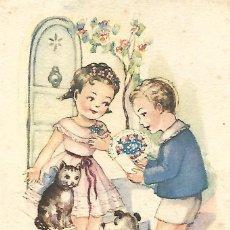 Postales: POSTAL ILUSTRACIÓN CON VERSO (1951). Lote 104432923