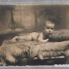 Postales: TARJETA POSTAL DE INFANTIL. FOTOGRAFIA ESTUDIO DE BEBE. Lote 104569955
