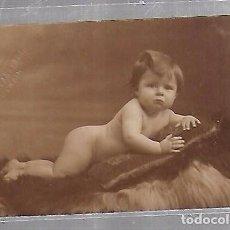 Postales: TARJETA POSTAL DE INFANTIL. FOTOGRAFIA ESTUDIO DE BEBE. Lote 104569959