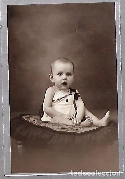 TARJETA POSTAL DE INFANTIL. FOTOGRAFIA ESTUDIO DE BEBE (Postales - Postales Temáticas - Niños)