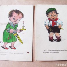 Postales: PAREJA DE POSTALES INFANTILES CON DIBUJOS COMICOS. Lote 105186123