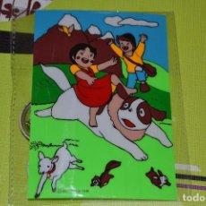 Postales: POSTAL DE HEIDI MÁS TRES CHAPAS. Lote 105435331
