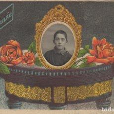 Postales: POSTAL MODERNISTA FRANCESA CON LA FOTO DE UN NIÑO. Lote 107017247