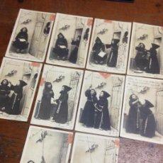 Postales: ANTIGUAS POSTALES SÈRIE COMPLETA NIÑOS MONAGUILLOS TEMA RELIGIOSO 1902. Lote 109025455