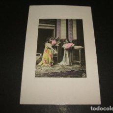 Postales: NIÑAS CON FLORES POSTAL 1911. Lote 110179575