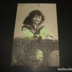 Postales: NIÑO MARINERO POSTAL 1911. Lote 110202223
