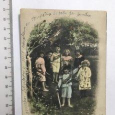 Postales: POSTAL ROMÁNTICA. NIÑOS. H. 1920?. Lote 113030312