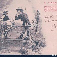 Postales: POSTAL 2 DE LA SERIE LE DROIT DE PASSAGE - EL DERECHO DE PASO - FRANCESA - CIRCULADA. Lote 117926519