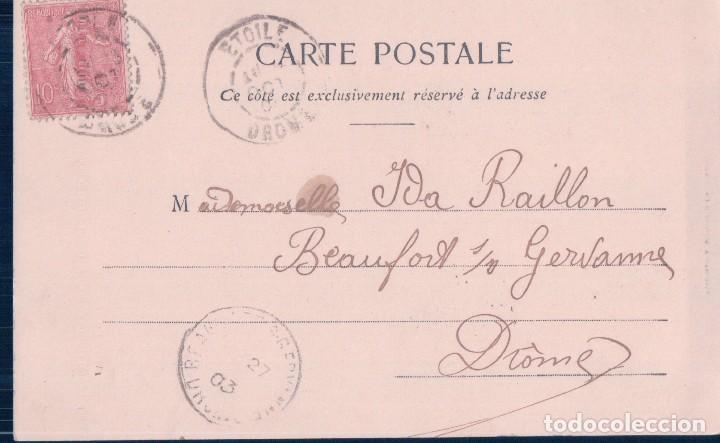 Postales: POSTAL 2 DE LA SERIE LE DROIT DE PASSAGE - EL DERECHO DE PASO - FRANCESA - CIRCULADA - Foto 2 - 117926519