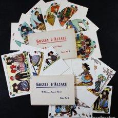 Postales: LOTE 20 POSTALES GOSSES D'ALSACE SERIE 1 Y 2, DIBUJOS DE HANSI, NIÑOS DE ALSACIA, MUY CURIOSAS. Lote 127733916