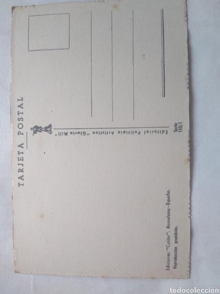 Postales: EXCLUSIVA TARJETA POSTAL EDICIONES COLÓN EDITORIAL POLITIPIA ARTISTICA GLORIA MILL SERIE 113/1- - Foto 2 - 118825896
