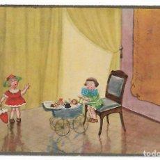 Postales: NIÑAS JUGANDO MUÑECAS. GIRLS PLAYING WITH DOLLS.. Lote 124389683