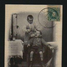 Postales: NIÑO DENTISTA.4 POSTALES CIRCULADAS EN 1903.. Lote 124532799